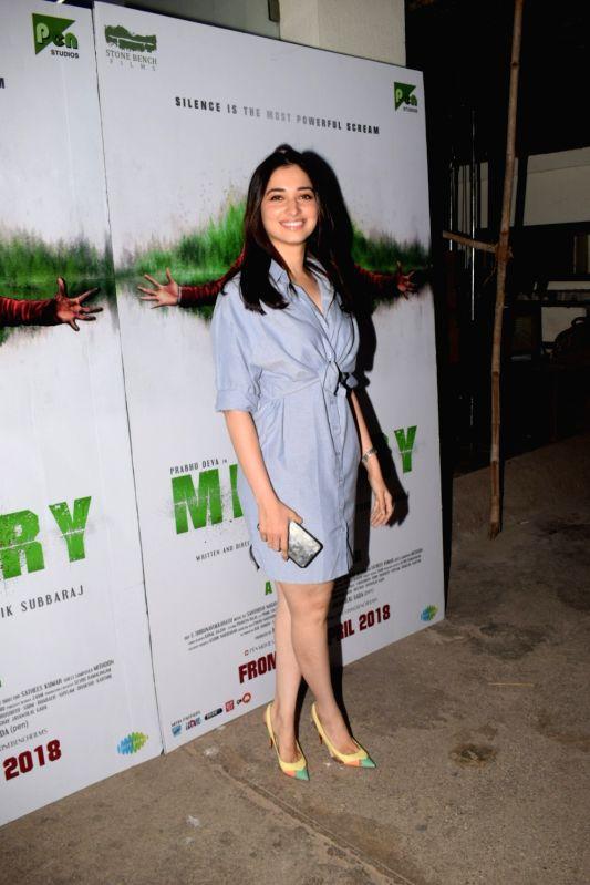 "Actress Tamannaah Bhatia at the special screening of  film ""Mercury"" in Mumbai on April 12, 2018. - Tamannaah Bhatia"