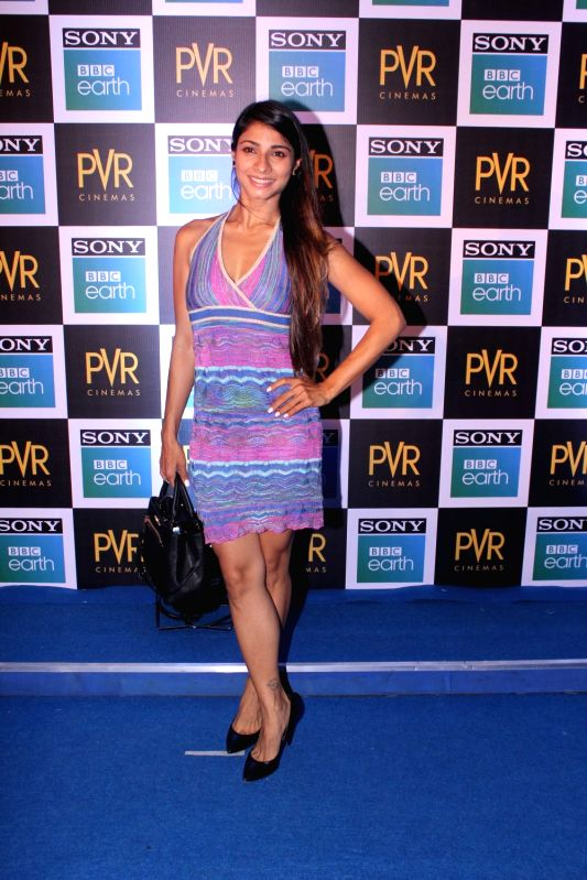 "Actress Tanishaa Mukerj at the screening of Sony BBC Earth's film ""Blue Planet II: One Ocean & The Deep"" in Mumbai on May 15, 2018. - Tanishaa Mukerj"