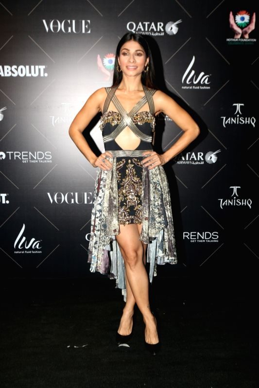 "Actress Tanishaa Mukerji at the red carpet of ""Vogue Beauty Awards"" in Mumbai on July 31, 2018. - Tanishaa Mukerji"