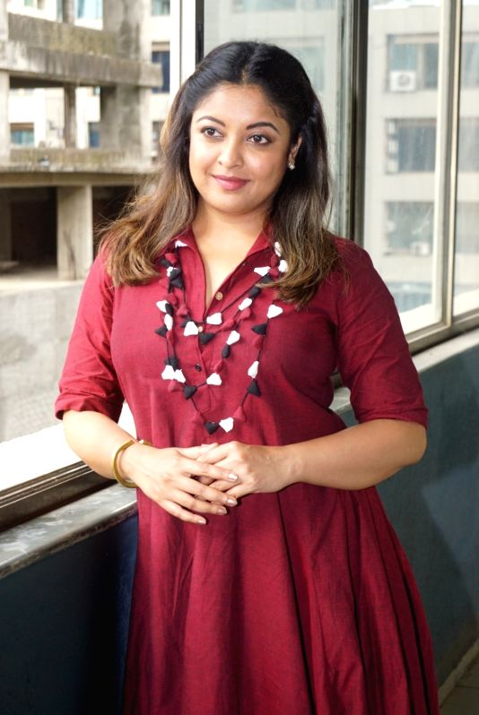 Actress Tanushree Dutta during an interview in Mumbai, on Aug 2, 2018. - Tanushree Dutta