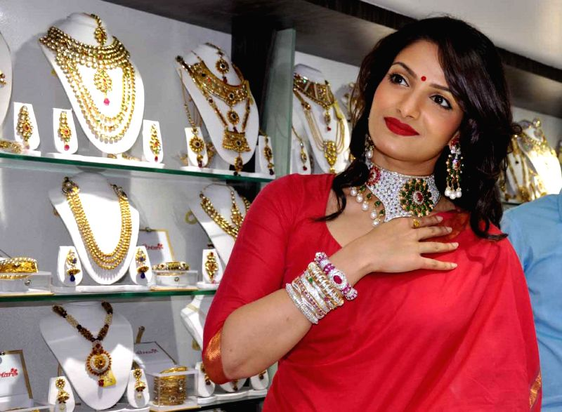 Actress Tanusree Chakraborty during launch of a jewellery store in Kolkata on Aug 20, 2014.