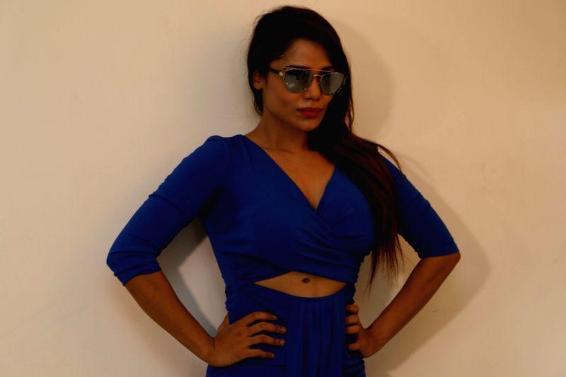 Actress Tasha Haayat during a photo shoot for upcoming album Zariya in Mumbai on April 23, 2017. - Tasha Haayat