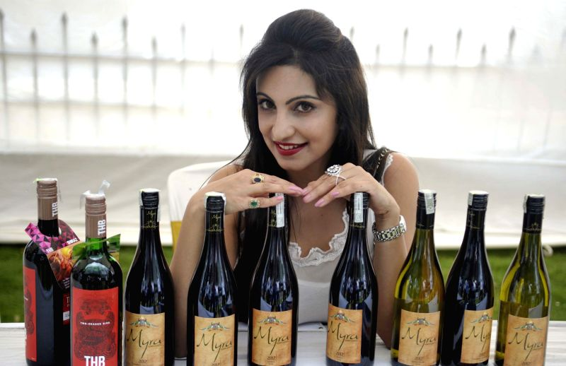 Actress Tina Ponappa at the inauguration of `Vine and Berry Festival` in Bengaluru, on April 25, 2015.