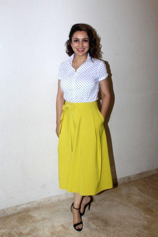 "Actress Tisca Chopra during the screening of short film ""School Bag"" in Mumbai, on June 13, 2017. - Tisca Chopra"