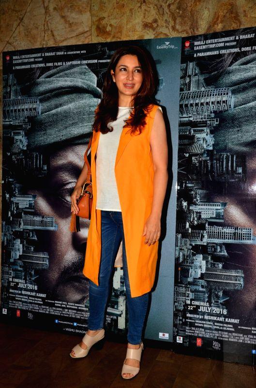 Actress Tisca Chopra during the screening of the film Madaari in Mumbai on July 20, 2016. - Tisca Chopra