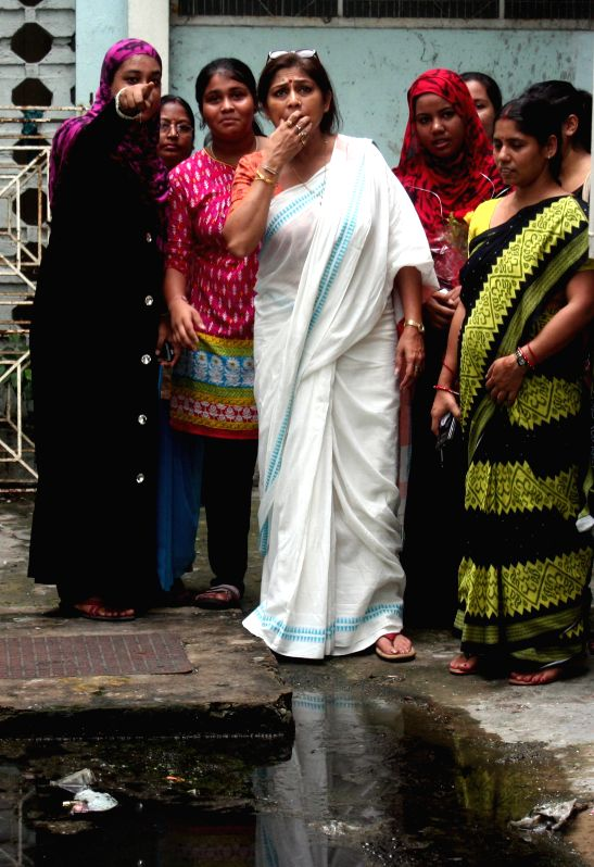 Actress turned BJP politicians Roopa Ganguly visits National Institute of Homeopathy in Kolkata on June 30, 2015.