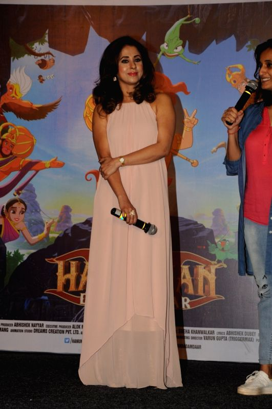 Actress Urmila Matondkar during the song launch of Lakdi Ki Kathi from the film Hanuman Da' Damdaar in Mumbai, on May 18, 2017. - Urmila Matondkar