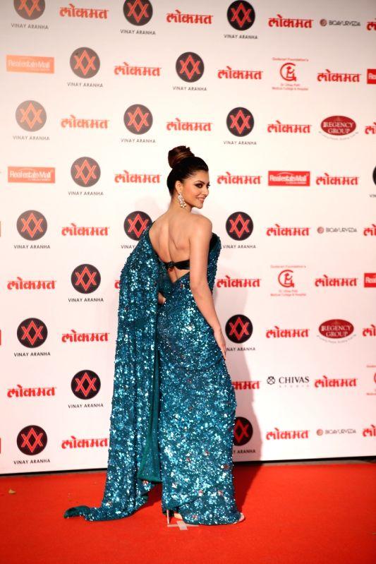 Actress Urvashi Rautela at Lokmat Most Stylish Awards 2018 in Mumbai, on Dec 19, 2018.