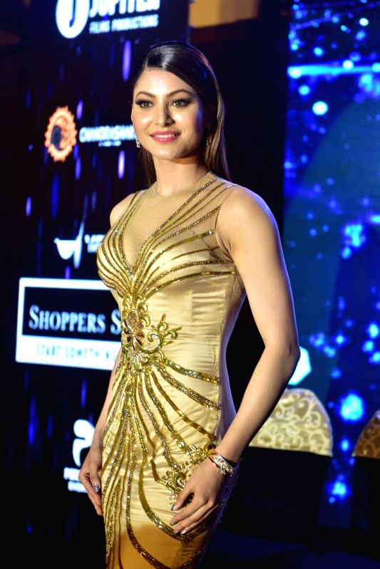 Actress Urvashi Rautela at the launch of Miss and Mrs India Glam Hunt 2018 in Kolkata on July 15, 2018. - Urvashi Rautela