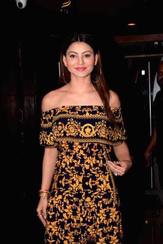 "Actress Urvashi Rautela at the special screening of film ""Ekkees Tareekh Shubh Muhurat"" in Mumbai on Nov 1, 2018."