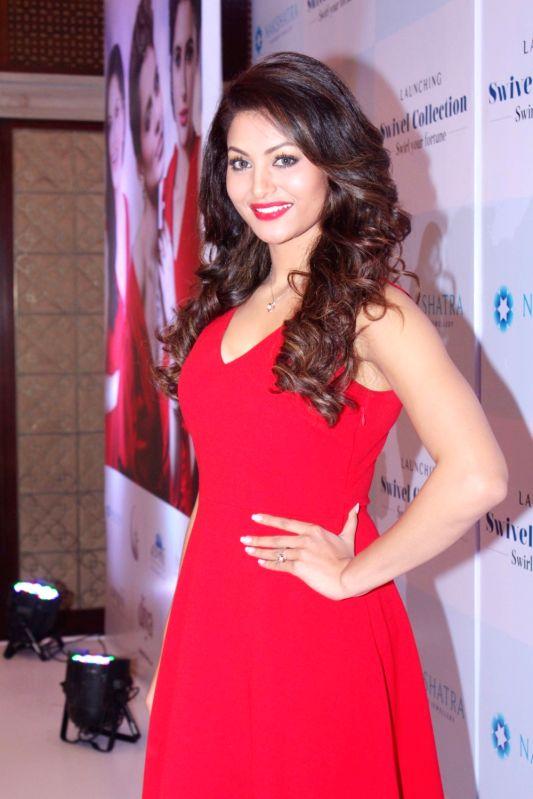 Actress Urvashi Rautela during a programme in Mumbai on July 25, 2017.
