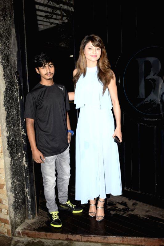 Actress Urvashi Rautela during her brother Yashraj Rautela birthday celebration in Mumbai on July 23, 2018. - Urvashi Rautela