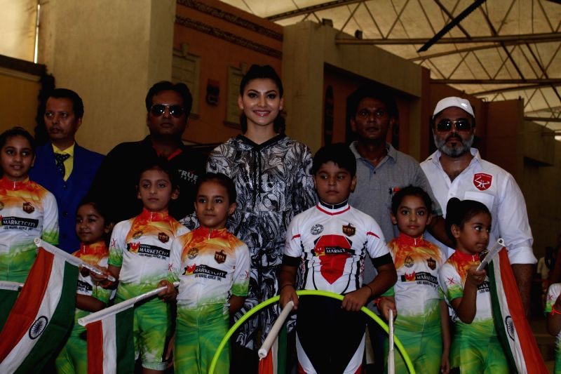 Actress Urvashi Rautela during the children Roller Skating and Hoola Hoop event in Mumbai in Mumbai on May 1, 2017. - Urvashi Rautela