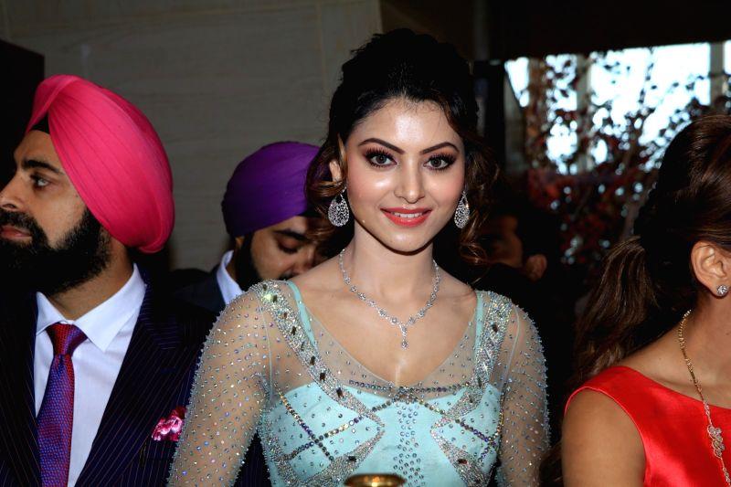 Actress Urvashi Rautela during the inauguration of 15th Glamour Exhibition 2016 , in Mumbai, on Aug 19, 2016.