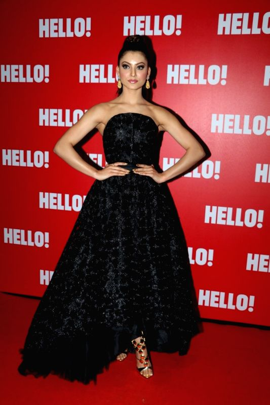 Actress Urvashi Rautela during the launch of Hello! Magazine`s first limited edition coffee table book `Iconic Jewels of India` in Mumbai, on May 12, 2016.
