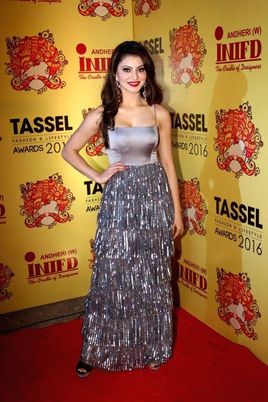 Actress Urvashi Rautela during the Tassel Fashion and Lifestyle Awards 2016, in Mumbai, on May 8, 2016. - Urvashi Rautela