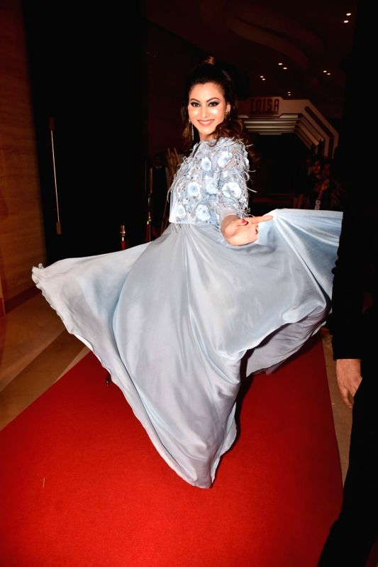 Actress Urvashi Rautela during Times of India Sports Awards 2017 in Mumbai on March 20, 2017.