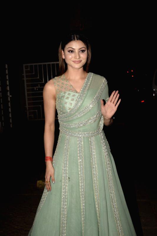 Actress Urvashi Rautela seen in Mumbai's Bandra on Oct 31, 2018.