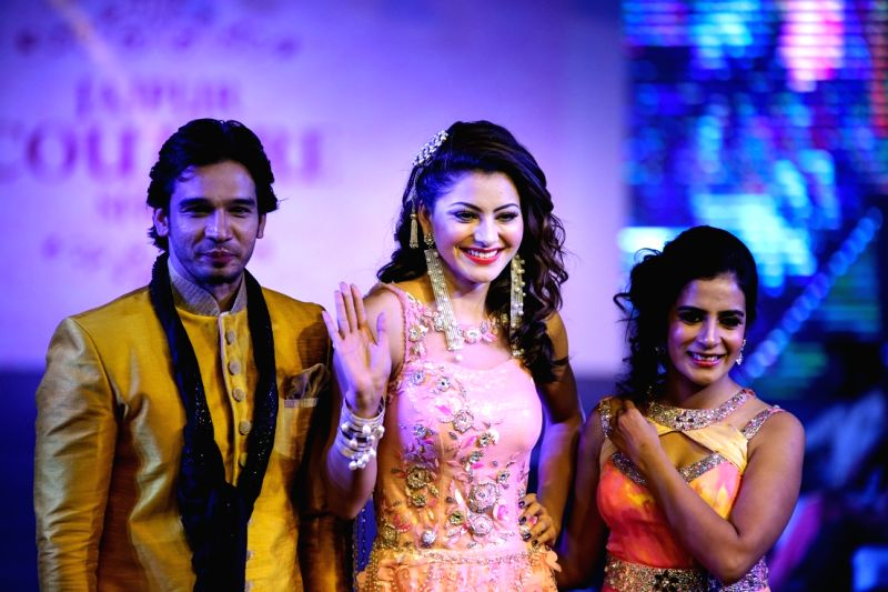 Actress Urvashi Rautela walked the ramp for Jaipur Fashion week and was the the show stopper for designer Gaurrav and Ridhima Gaur at Jw Marriot hotel in Jaipur.