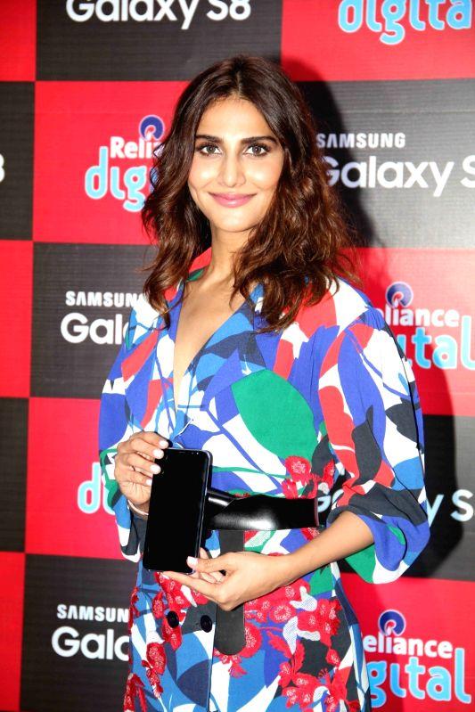 Actress Vaani Kapoor during the launch of Samsung Galaxy S8 smartphone in Mumbai on May 2, 2017. - Vaani Kapoor