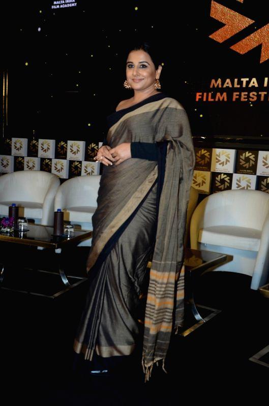 Actress Vidya Balan announced brand ambassador of Malta India Film Festival 2018 in Mumbai on Aug 9, 2018. - Vidya Balan