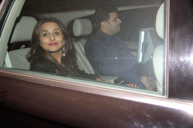 Actress Vidya Balan arrives at Salman Khan's birthday party in Panvel near Mumbai, India on December 26, 2014. - Vidya Balan