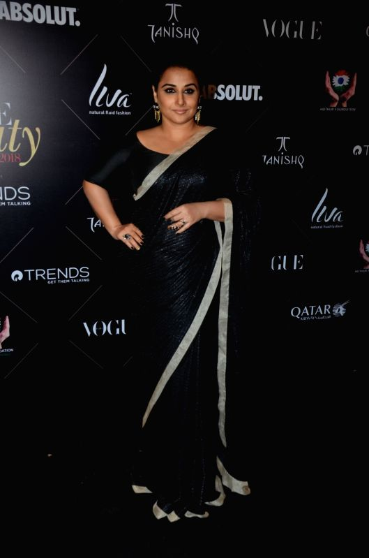 "Actress Vidya Balan at the red carpet of ""Vogue Beauty Awards"" in Mumbai on July 31, 2018. - Vidya Balan"
