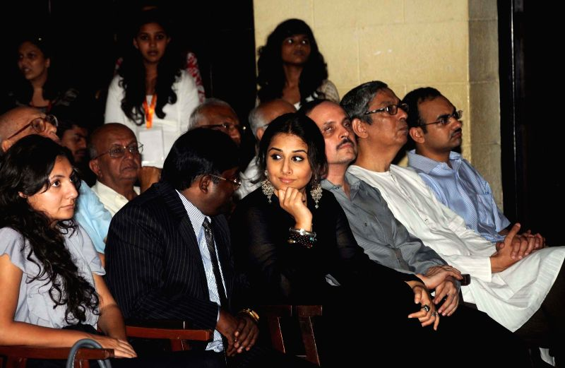 Actress Vidya Balan during a programme where she distributed 'Smartcanes' to the visually challenged at St. Xavier's College on Aug 5, 2014.