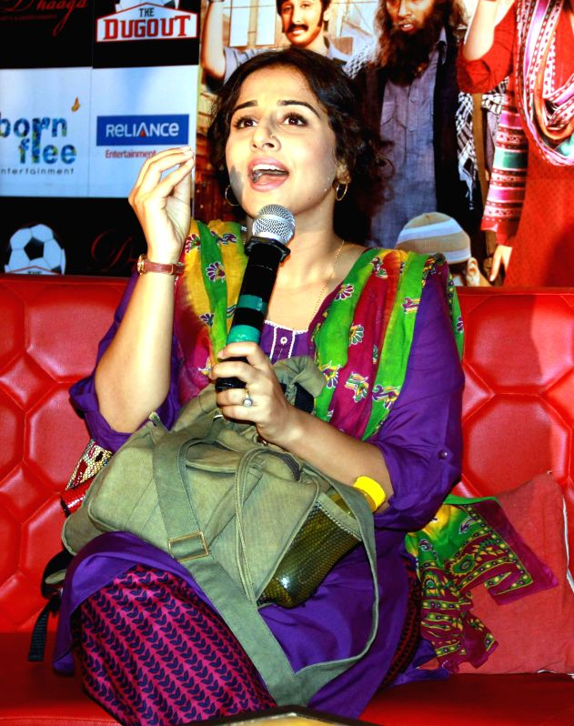 Actress Vidya Balan during promotion of film `Bobby Jasoos` in Kolkata on June 28, 2014. - Vidya Balan