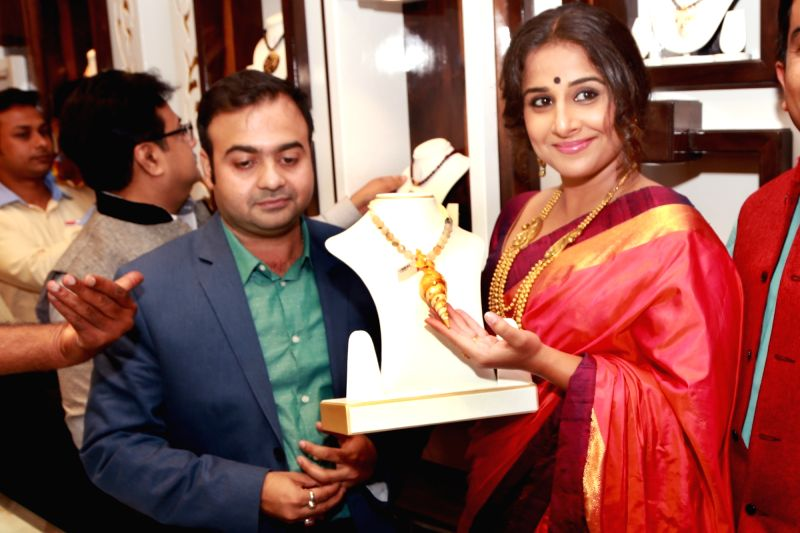 Actress Vidya Balan during the inauguration of Senco Gold and Diamonds' showroom in Noida, on July 27, 2016. - Vidya Balan