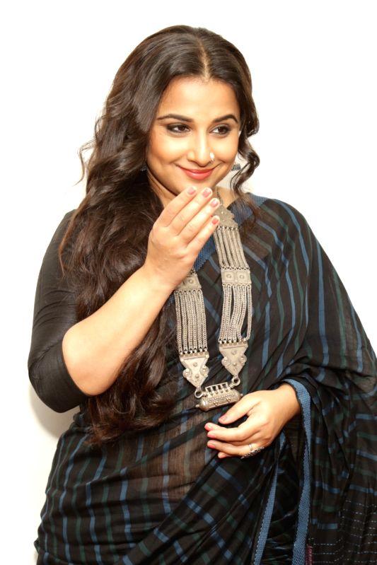 "Actress Vidya Balan during the promotional interview of film ""Begam Jaan"" in New Delhi on April 12, 2017. - Vidya Balan"