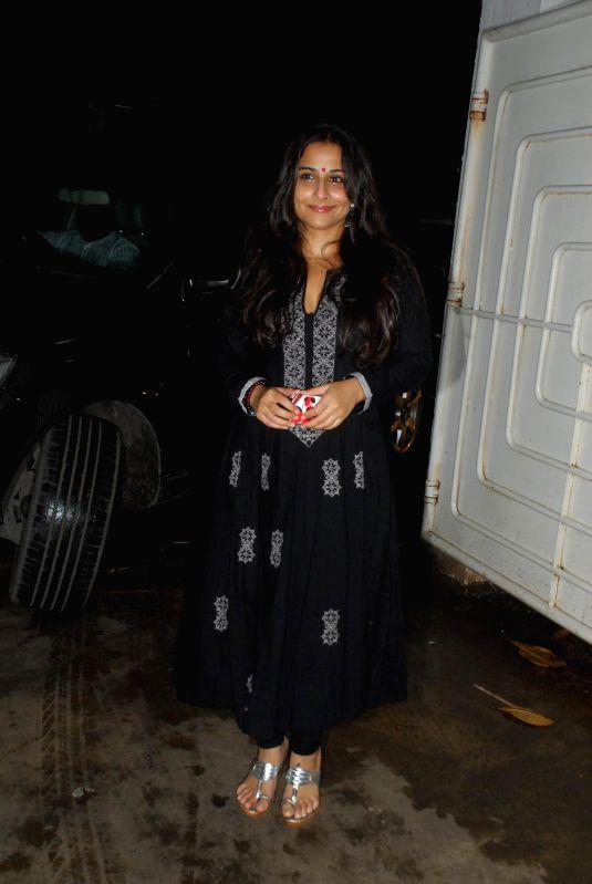 Actress Vidya Balan during the screening of film Finding Fanny in Mumbai on 3rd September 2014 - Vidya Balan