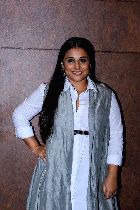 """Actress Vidya Balan during the special screening of film """"Shubh Mangal Savdhan"""" in Mumbai on Aug 31,2017. - Vidya Balan"""