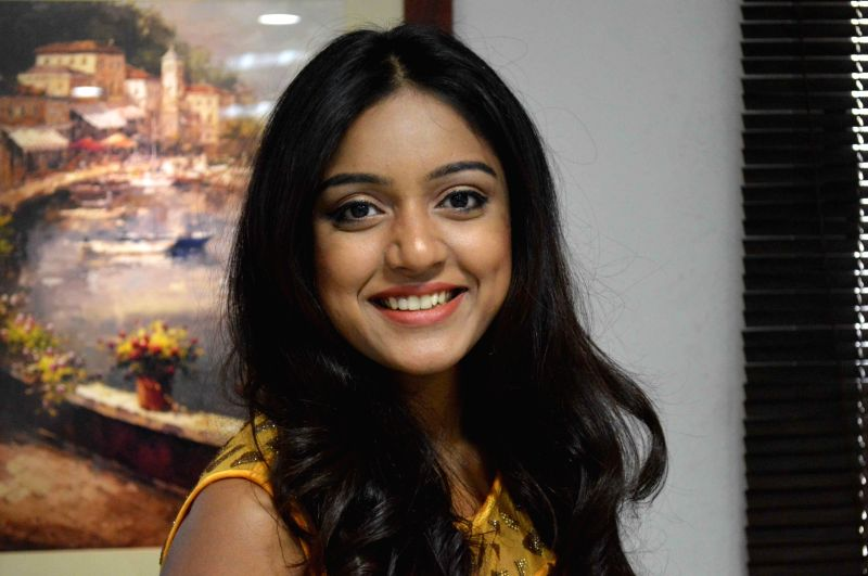 Actress Vithika Sheru during a programme in Hyderabad on Oct 30, 2015.