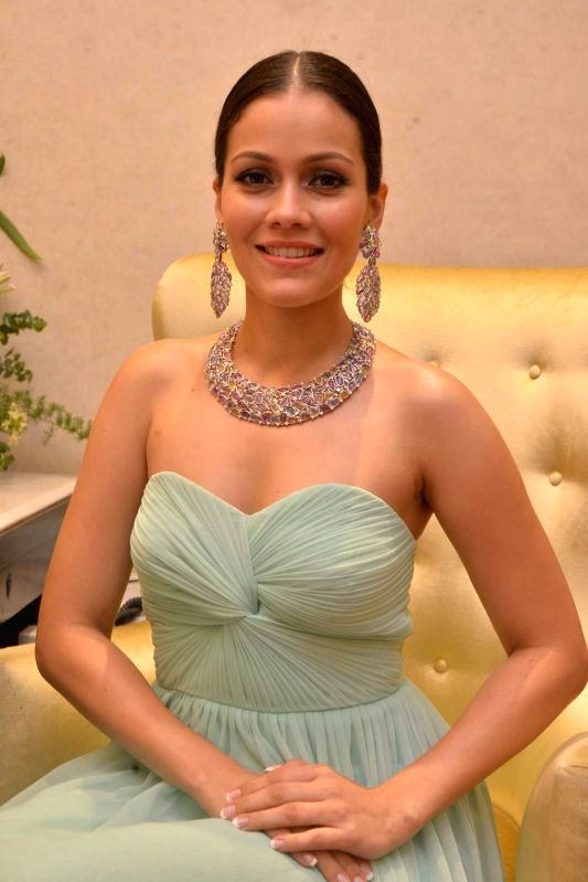 Actress Waluscha De Sousa during the launch of Jewels new collection Rise Anew in Mumbai, on Aug 12, 2015.