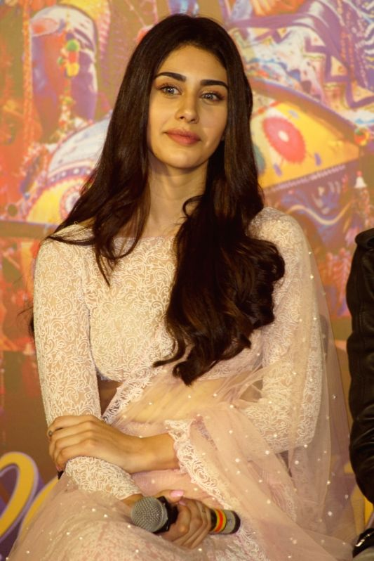 "Actress Warina Hussain at the trailer launch of her upcoming film ""Loveratri"" in Mumbai on Aug 6, 2018. - Warina Hussain"