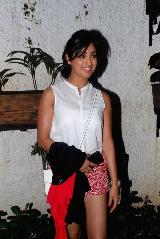 Actress Yami Gautam during the screening of film Finding Fanny in Mumbai on 3rd September 2014 - Yami Gautam