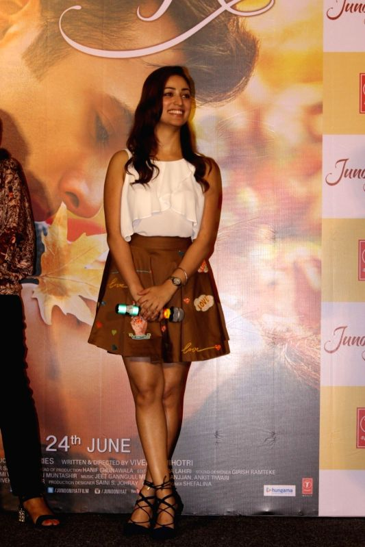 Actress Yami Gautam during the trailer showcase and song launch of film Junooniyat, in Mumbai, on May 24, 2016. - Yami Gautam