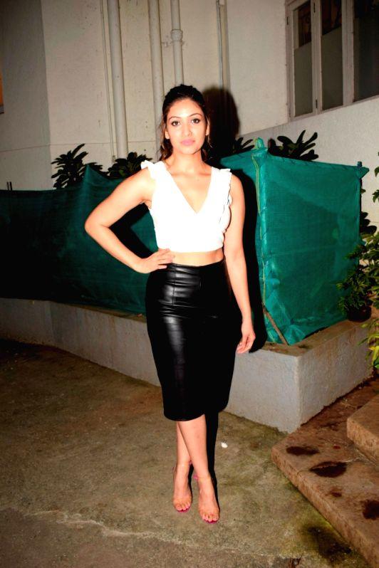 """Actress Yami Gautam's sister Surilie Gautam at the pre-release party of upcoming film """"Karwaan"""" in Mumbai on July 26, 2018. - Yami Gauta"""