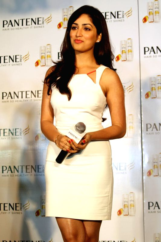 Actress Yami Gautam take extraordinary ``Live Hair Dares`` with Pantene`s new improved range, in New Delhi on June 17,2014.