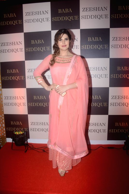 Actress Zareen Khan at politician Baba Siddique's iftar party in Mumbai on June 10, 2018. - Zareen Khan