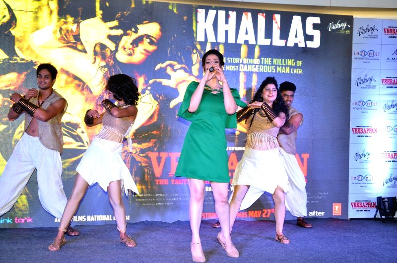 Actress Zareen Khan during the launch of song Khallas from film Veerappan, in Mumbai, on May 14, 2016. - Zareen Khan