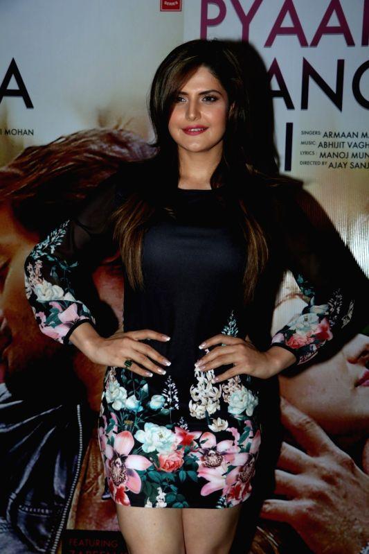 Actress Zareen Khan during the song launch of Pyaar Manga Hai, in Mumbai on August 3, 2016 - Zareen Khan