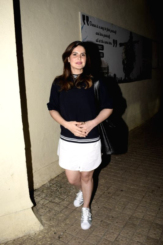 Actress Zareen Khan seen at a cinema theatre in Juhu, Mumbai on July 29, 2018. - Zareen Khan