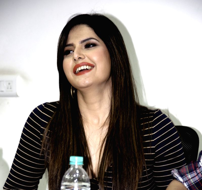 Actress Zarine Khan during her visit to IANS office in New Delhi, on Dec 2, 2015. - Zarine Khan