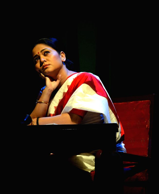 "Actress Zerifa Wahid enacting a  play ""Moromor bondhu..."" (An adaption of A.R. Gurney's 'Love Letters')  at Rabindra Bhawan in Guwahati on July 25, 2014. - Zerifa Wahid"