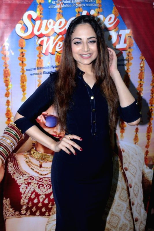 Actress Zoya Afroz during the promotion of film Sweetiee Weds NRI in Mumbai, on June 1, 2017. - Zoya Afroz
