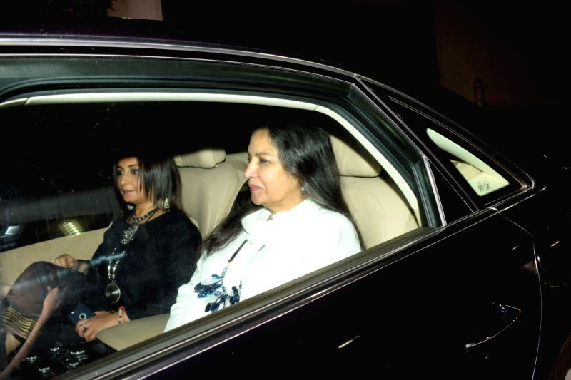 """Actresses Divya Dutta and Shabana Azmi at the special screening of upcoming film """"Soorma"""" in Mumbai on July 11, 2018. - Divya Dutta and Shabana Azmi"""
