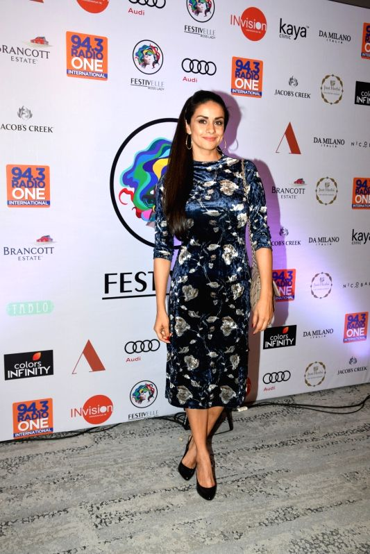 Actresses Gul Panag at 'Festivelle Boss Lady' - a cultural programme curated by her in collaboration with actress Shruti Seth, in Mumbai on Nov 17, 2018. - Shruti Seth and Gul Panag