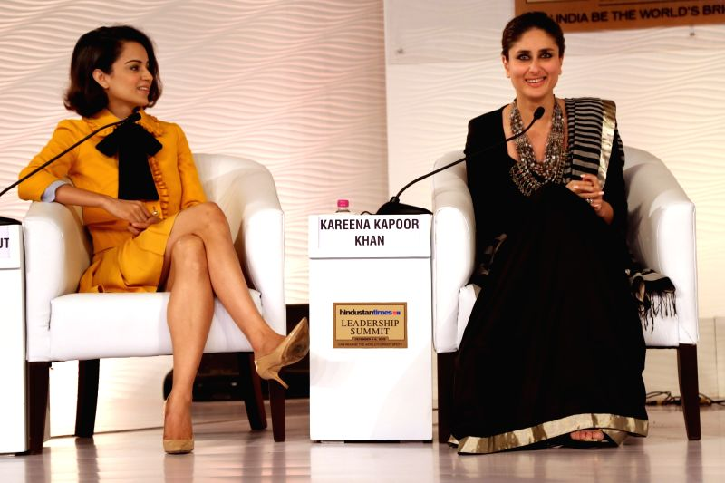 Actresses Kareena Kapoor and Kangana Ranaut at the HT Summit 2015 in New Delhi, on Dec 4, 2015.